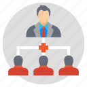 business meeting, conference, meeting, meetup, seminar icon
