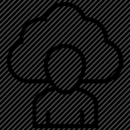cloud account, cloud computing, cloud management, cloud profile, cloud user icon