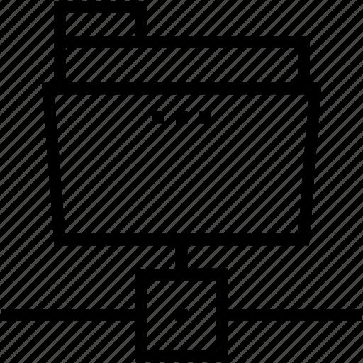 connected folder, folder sharing, linked folder, server folder, server storage icon