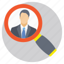 employment, human resource, recruitment, searching staff, talent hunt icon