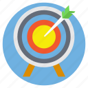 archery, business target, dartboard game, goal achievement, target achievement icon