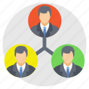 collaboration, management, organization, team connection, teamwork icon