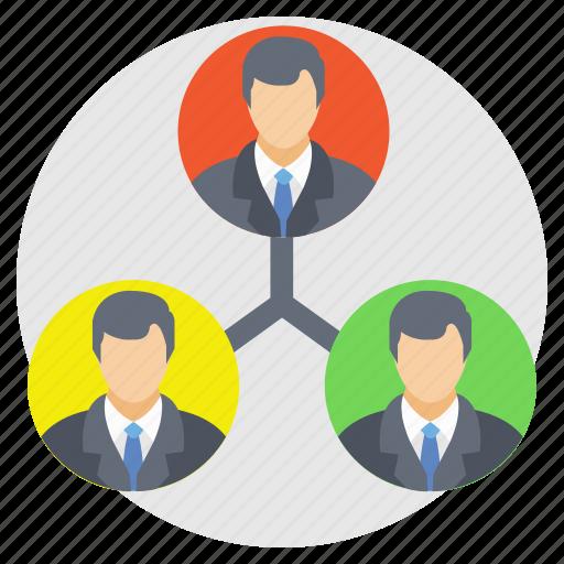 collaboration, management, organization, team connection, teamwork icon