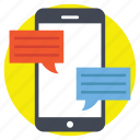 communication, mobile chat, online conversation icon