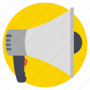 announcement, bullhorn, loudspeaker, marketing concept, megaphone icon