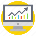 online graph, web analytics, web infographic, web ranking, web rating icon