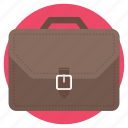 briefcase, carrying case, documents bag, office bag, portfolio bag icon