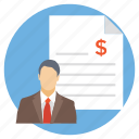 bank statement, business report, cash flow statement, financial statement, payment draft icon