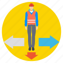 career confusion, opportunity selection, professional step, project direction, strategy planning icon