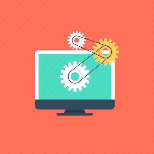 application development, software advancement, software development, software technology, web development icon