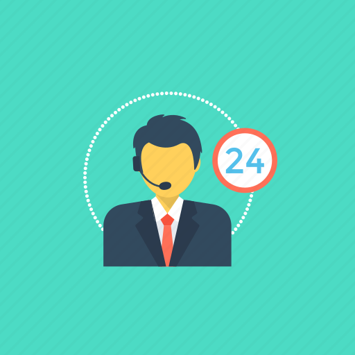 customer representative, customer support, full-service icon