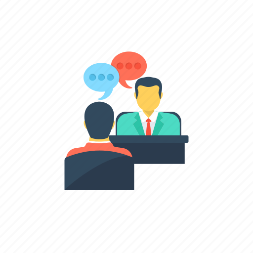 conference, dialogue, discussion, interview, question and answers session icon