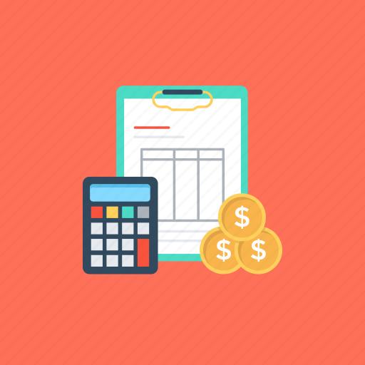 budget, financial estimate, financial plan, prediction of expenditure, prediction of revenue icon