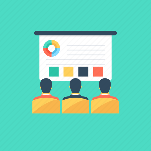 business meeting, conference, convention, presentation, seminar icon