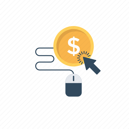 cost per click, internet advertising, pay-per-click, ppc advertising, ppc marketing icon