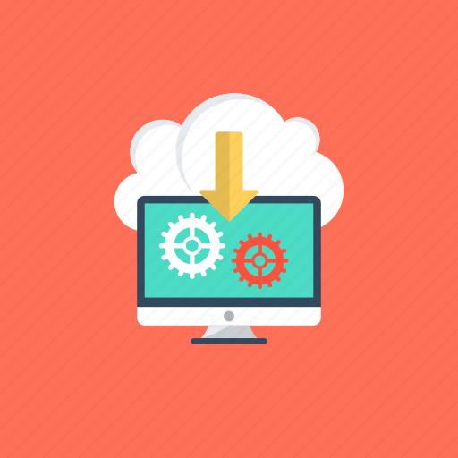 cloud computing, cloud hosting, cloud storage, information technology, remote server hosting icon