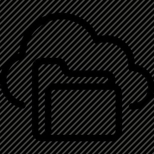 cloud, database, folder, server icon