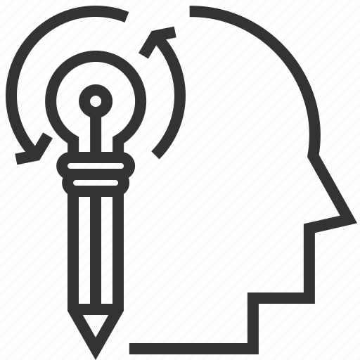 brain, creative, design, generation, idea, lightbulb icon