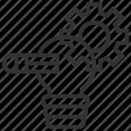 bulb, energy, idea, light, power, project icon