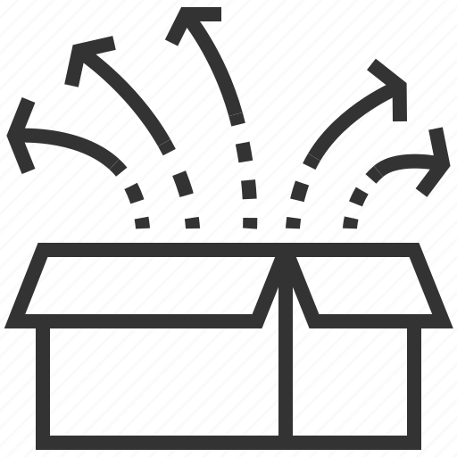 box, delivery, of, out, package, the, think icon