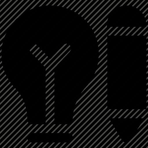 Bulb, creative, idea, pencil, pencil bulb, writing icon - Download on Iconfinder