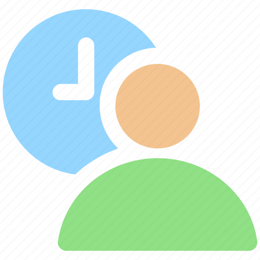 Clock, employee, time, timing, user, user time icon - Download on Iconfinder