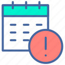 calendar, date, deadline, notification, time icon
