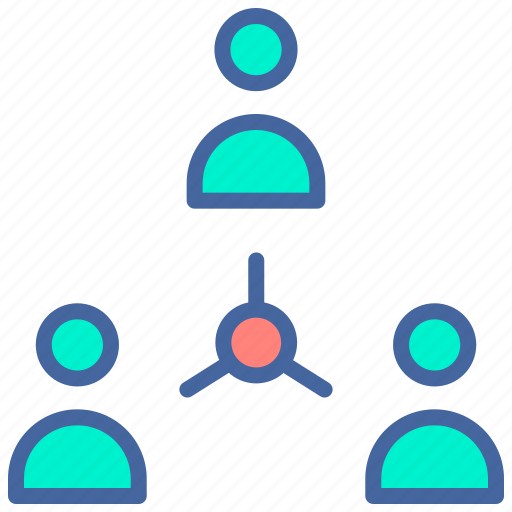 company, connection, employee, network, users icon