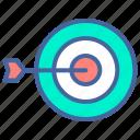 arrow, busines, plan, success, target icon