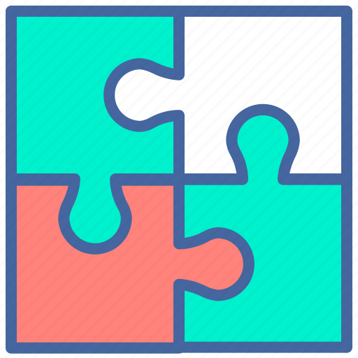 education, game, puzzle, smart, teamwork icon