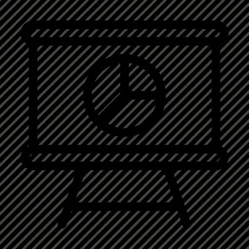 board, chart, graph, presentation, project icon
