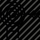bullseye, crosshair, dartboard, goal icon