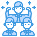 collaborate, leader, network, strong, teamwork icon