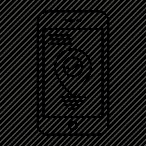 Location, navigation, pointer, smartphone icon - Download on Iconfinder