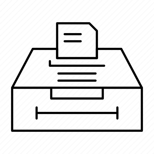 archive, business, data, information icon