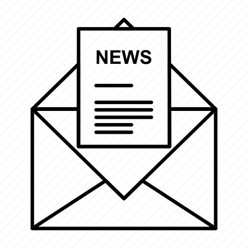 business, corresponding, email, letter, news icon