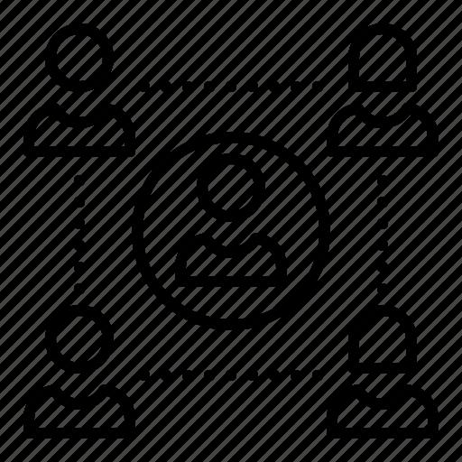 business, group, lead, leadership, team, teamwork icon