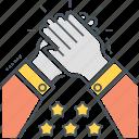 appreciate, appreciation, clap, clap hands icon