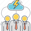 brainstorm, brainstorming, teamwork icon