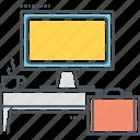 business, desk, desktop, monitor, workplace, workspace, workstation