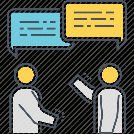 chat, communication, discuss, talk icon