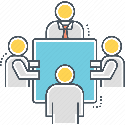 company, conference, discussion, meeting icon