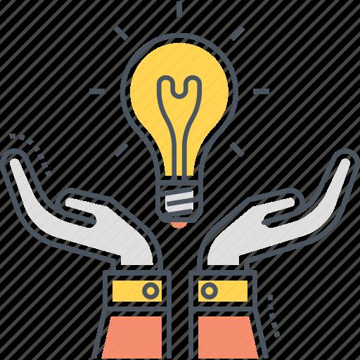 creative, creativity, idea, light bulb icon
