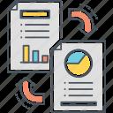 exchange, files, files exchange, files transfer icon
