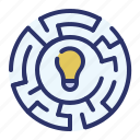 business, challenge idea, creativity, marketing, maze, project management, solution icon