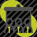 blackboard, business, employee presentation, marketing, project management, strategy, training icon