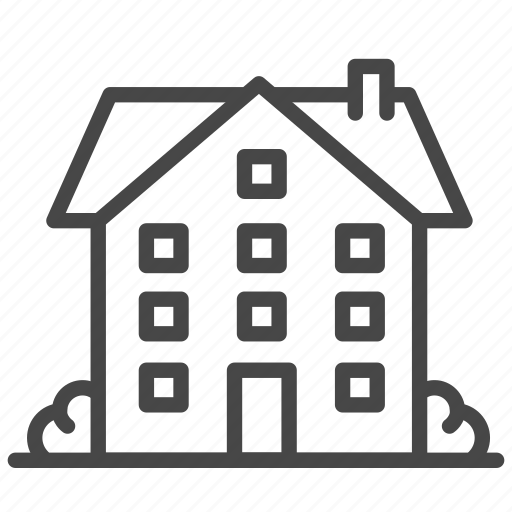 apartment, building, home, house, property, real, room icon