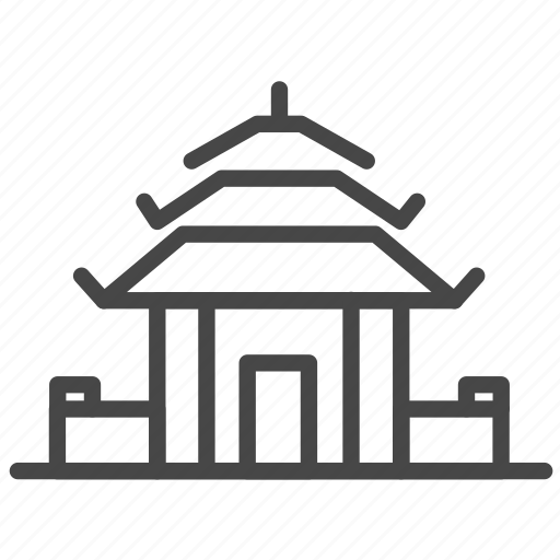 accommodation, building, property, real, resort, temple icon