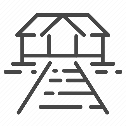 accommodation, bungalow, property, real, resort, room, villa icon