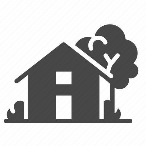 accommodation, building, estate, home, house, property icon